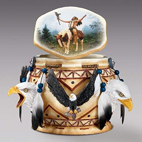 Bradford Exchange American Indian Spirit of The Eagle Sculpture Keepsake Box
