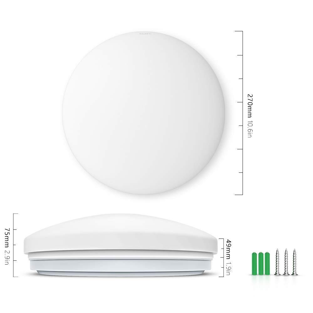 24W led Deckenlampe dimmbar mit fernbedienung 2er LED Deckenleuchte Dimmbar Flimmerfreie Wohnzimmerlampe Helligkeit und Farbtemperatur stufenlos einstellbar Schlafzimmerlampe Kinderzimmerlampe
