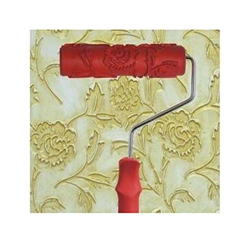 - Black Temptation Embossed Paint Roller Wall Painting Runner Wall Decor DIY Tool, Pattern 4