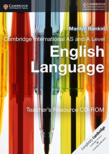 Cambridge International AS and A Level English Language Teacher's Resource CD-ROM by Cambridge University Press
