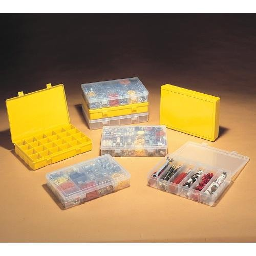 Durham MFG LP6-CLEAR Compartment Box, 6 Compartment, 2.31'' Height, 13.12'' Wide, 2.31'' Length, Polypropylene, Transparent (Pack of 5) by Durham Mfg (Image #1)