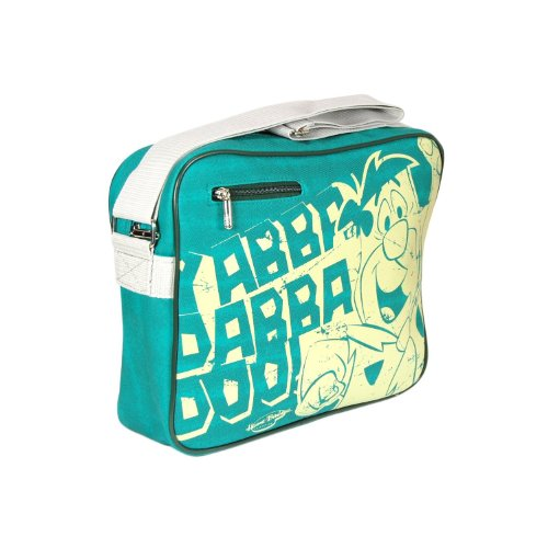 Flintstones Sports Bag- Yabba Dabba Doo - Turquoise and White by Pop Art Products