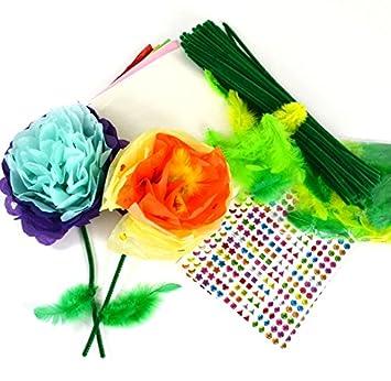 60 Tissue Paper Flowers