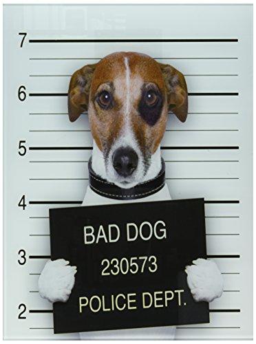 Bad Dog Tempered Glass Wall Art, funny dog wall art - dog home decor