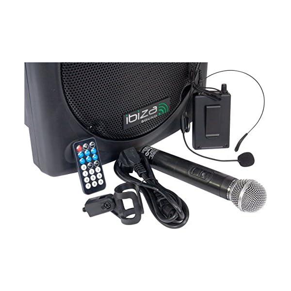 Ibiza PORT12VHF-BT Sonorisation portable 12'' USB/SD/AUX/MP3/Bluetooth Noir 4
