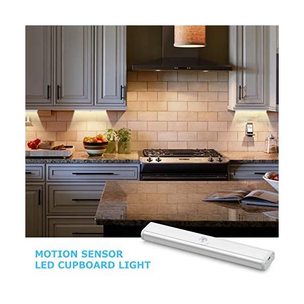 51 XCR9rafL Fansteck Schrankbeleuchtung mit Bewegungsmelder 3er Pack, 60 LED Schranklicht mit 6 Magnetstreifen, Dimmbare…