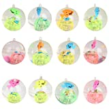colorofthewind LED Light Up Funny Crystal Clear Elastic Flashing Ball Luminous Bouncing Ball,Rainbow color