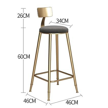 Superb Amazon Com Yjxjjd Golden Bar Chair Dessert Shop Coffee Home Interior And Landscaping Eliaenasavecom