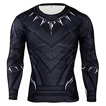 Amazon.com: Rulercosplay Black Panther Shirt Long Sleeves