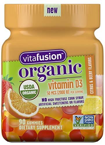 Vitafusion Organic D3 Gummy Vitamin 90ct
