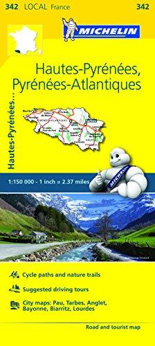 Michelin FRANCE: Hautes-Pyrénées, Pyrénées Atlantiques Map 342 (Maps/Local (Michelin))