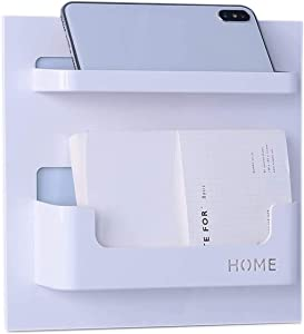 QIC Bedside Shelf Accessories Organizer- Wall Mount Self Stick On Bedroom,Office use Stroller Storage Cabinet, Very Suitable for Glasses, Remote Control, Earphones,Mobile Phone Charger and Nail Set