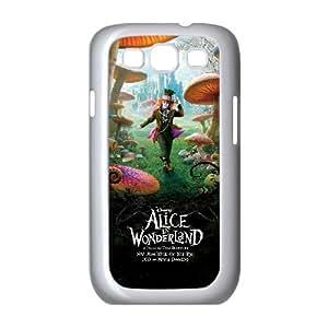 Alice In Wonderland 003 funda Samsung Galaxy S3 9300 caja funda del teléfono celular del teléfono celular blanco cubierta de la caja funda EVAXLKNBC32872