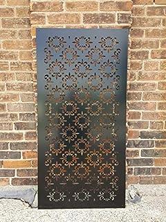 Stratco Decorative Privacy Screen Panel, Jungle Design with Rustic
