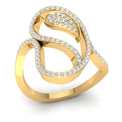 Or jaune 18K 0,4CT TW Round-cut-diamond (IJ | SI) en diamant