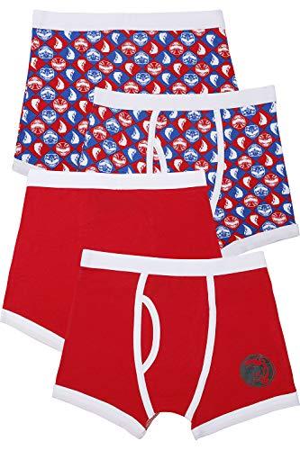 Power Ranger Boys' Little Red Ranger Underwear 2 Pack, Multi, 6