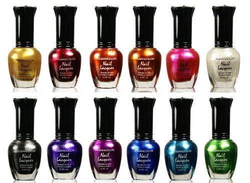 Lacquer Enamel Polish Nail (Kleancolor Nail Polish - Awesome Metallic Full Size Lacquer Lot of 12-pc Set Body Care / Beauty Care / Bodycare...)