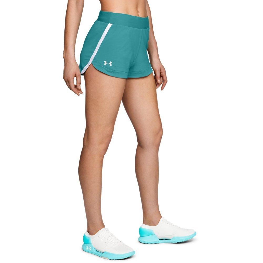 Under Armour Womens Speedpocket Shorts, Desert Sky /Reflective, X-Large by Under Armour