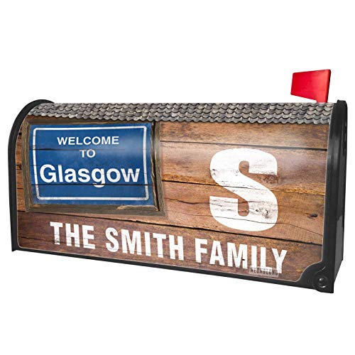 NEONBLOND Custom Mailbox Cover Sign Welcome to Glasgow
