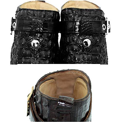 Moda Black degli Modo Ordinazione di degli di Cuoio Uomini su Uomini di Casuali Scarpe Alta Casuali 7gwABa