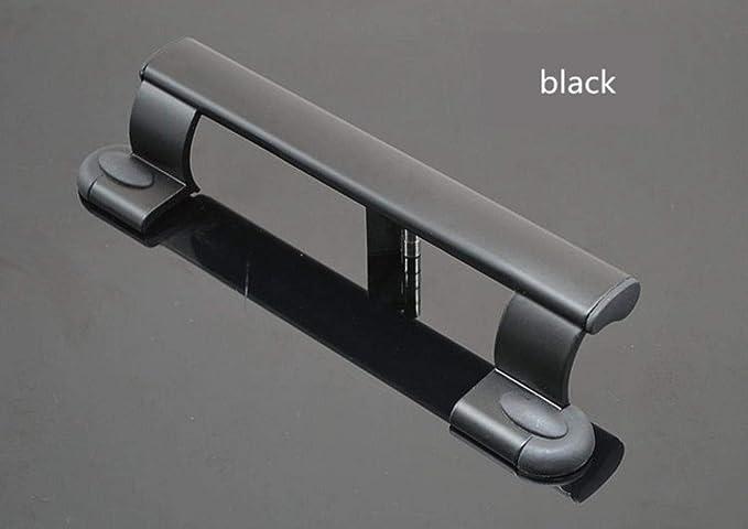 Ensalada manos puerta corredera de aleación de aluminio puerta de plástico con la manija de sacudida tirador, negro: Amazon.es: Bricolaje y herramientas