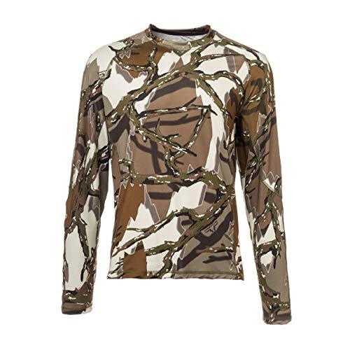 ee1ee30df7745 Predator Camo Men's Long Sleeve Performance Crew T-Shirt, Brown Deception,  X-