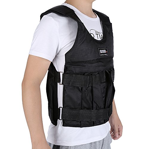 Not Include Weight 44lbs//110lbs Exercise Training Fitness Workout Boxing Weighted Vest Jacket Men Women Yosooo Adjustable Weighted Vest