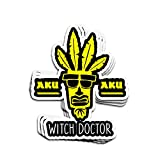 Hanabi 3 PCs Stickers Aku Aku Witch Doctor 4×3 Inch Die-Cut Decals for Laptop Window