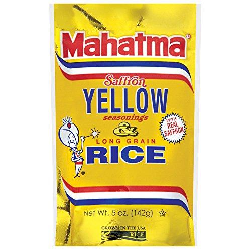 Mahatma Saffron Yellow Rice Mix, 5-Ounce (Pack of 12) by Mahatma