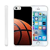 TurtleArmor | Apple iPhone SE Case | iPhone 5/5s Case [Flexible Armor] Resistant Slim Fitted Flexible TPU Case Soft Bumper Cover Sports and Games Design - Basketball Seams