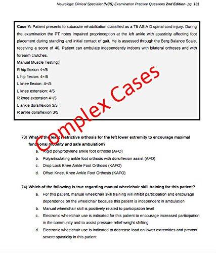 Neurologic Clinical Specialist Examination (NCS) Practice