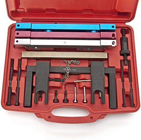 MOSTPLUS New Camshaft Crankshaft Alignment Timing Locking Tool Set for BMW N51 N52 N53 N54 N55 Engine---16 Pieces