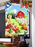 Cheap Autumn Barn Pumpkins Large Flag