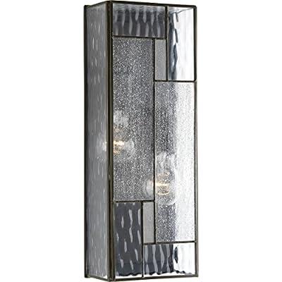 Progress Lighting P560048-129 Geometric Two-Light Medium Wall Lantern, Architectural Bronze