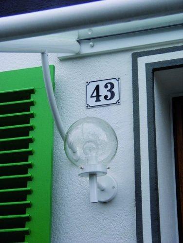 Hausnummernschild Hausnummer 26 Grund: wei/ß 120x160mm Schrift: schwarz