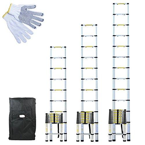 3 opinioni per Linxor ® Scala Telescopica Pro da 2,60 m, 3,20 m o 3,80 m in Alluminio + sacca
