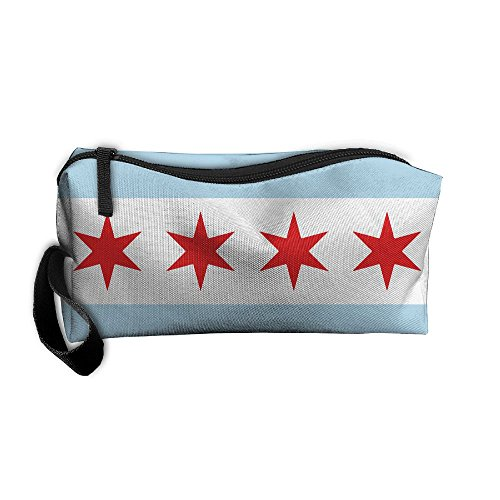 Chicago State Flag Handy Storage Pouch Travel Makeup Bag Oxford Cloth Kit Organizer For Sewing Medicine Comestic Fashion Pencil Pen - Chicago In Target