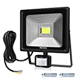 MK 30W LED Security Lights with Motion Sensor, Waterproof Floodlights, High Output 3000 Lumen 75W HPS Lights Equivalent Replaced, Super Bright LED PIR Flood light, Ideal for Garden, Car Park, Hotel and Yard, Daylight White