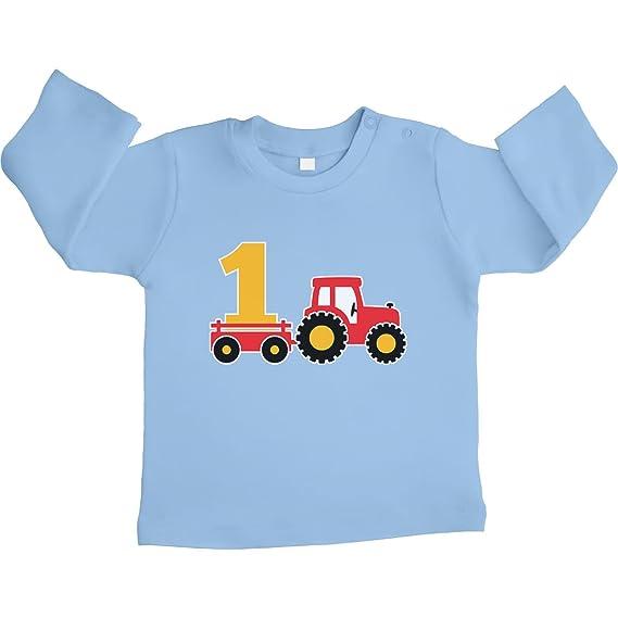 Shirtgeil 1 Jahr Geburtstag Junge Geschenk Traktor Unisex Baby Langarmshirt