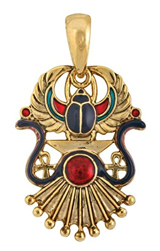 Largemouth Egyptian Winged Scarab Pendant Gold (One -