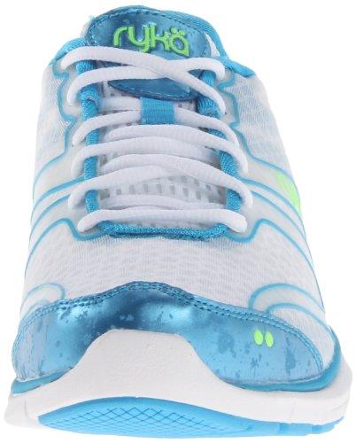 RYKÄ Dynamic La Capacitación de La Mujer Zapatos blanco, azul, lima, (White/Met/Ocean Blue/Electric Lime)