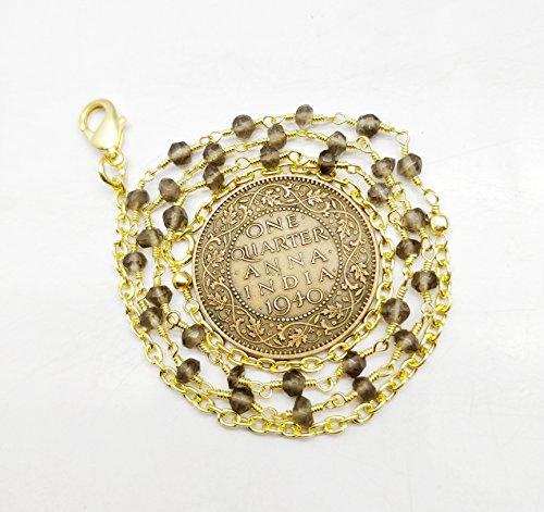 18 inch Beautiful Smoky Quartz 3.5 mm Rondelle faceted Beads Gold Plated (Smoky Quartz Rondelle Beads)