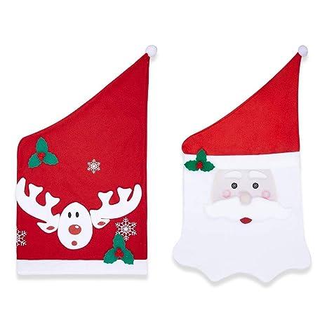 Skl Housse De Chaise De Noel M Pere Noel Cerfs Nouveaute Noel