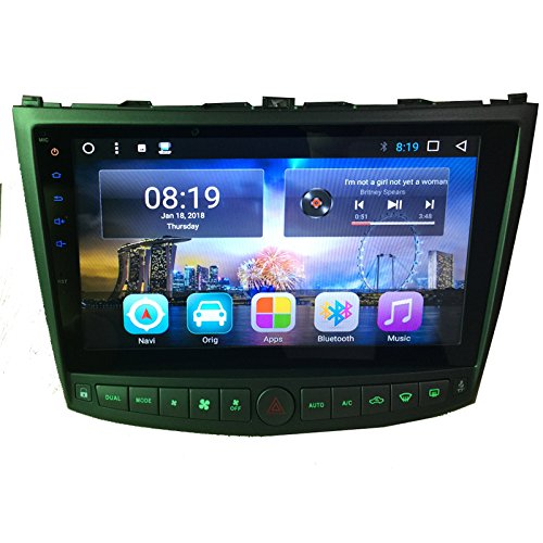 TOPNAVI Android 8.1 Full Touch 10.1Inch 32GB Octa Core Car Stereo Head Unit for Lexus IS250 IS350 2005 2006 2007 2008 2009 2010 2011 Car Radio Auto GPS Navigation Car Multimedia With 3G WIFI Bluetooth RDS Mirror Link Free Map FM AM Support Steerign Wheel C