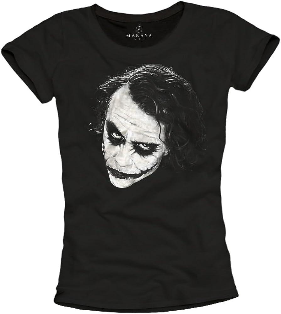 Camiseta Mujer Joker - Why So Serious - Batman Negra S: Amazon.es: Ropa y accesorios
