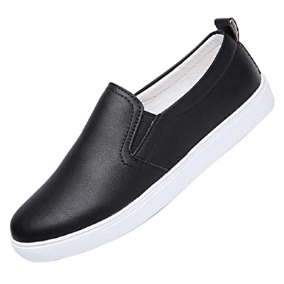 Alinb Shoes for Women's Slip-on Ladies Loafer Comfort Casual Leather Sneakers Penny Shoes Flats | Loafers & Slip-Ons