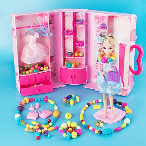 Gili pop beads arts and crafts toys gifts for kids age for Jewelry making kit for 4 year old