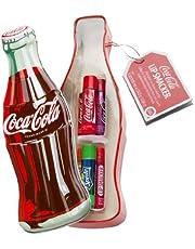 Markwins – Lip Smacker Coca Cola in Vintage-Flaschenform mit 6 Lippenpflegestiften in verschiedenen Geschmacksrichtungen