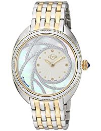 GV2 by Gevril Women's 'Ancona' Swiss Quartz and Stainless Steel Casual Watch, Color:Two Tone (Model: 3703)