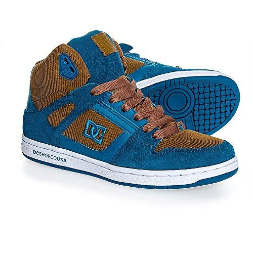 DC SHOES REBOUND HIGH LE BROWN BLUE W'S FW 2014-usw 5 eur 36 cm22